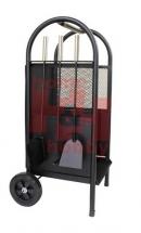 Krbové nářadí - 3ks na praktickém vozíku - držáku polínek